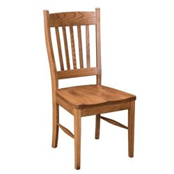Set of 2 Oak Shaker Dining Side Chairs - Fruitwood Stain