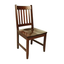 Set of 2 94-A Dining Side Chairs in Brown Maple with Asbury Stain