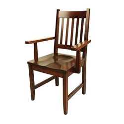 Set of 2 94-A Dining Arm Chairs in Brown Maple with Asbury Stain