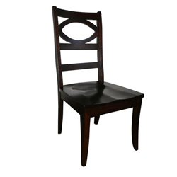 Set of 2 Globe Dining Side Chairs in Brown Maple with Asbury Stain