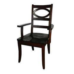 Set of 2 Globe Dining Arm Chairs in Brown Maple with Asbury Stain