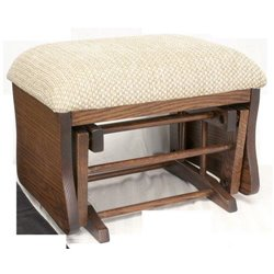 Oak Upholstered Gliding Ottoman / Foot Stool in Michael's Cherry Stain