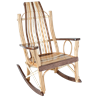 Exotic Woods Flat Arm Rocking Chair