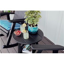 Outdoor Deluxe End Table in Poly Lumber - Round