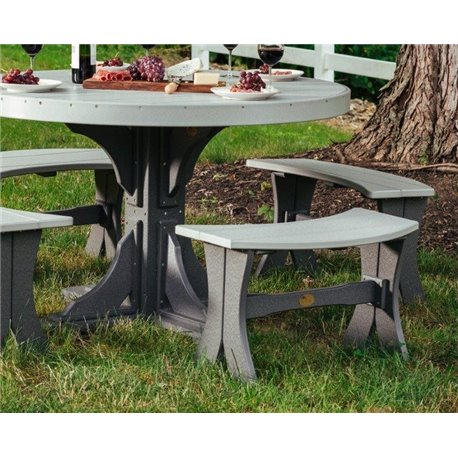 """Outdoor Dining Bench - 28"""" in Poly Lumber"""