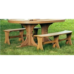 "Outdoor Dining Bench - 52"" in Poly Lumber"