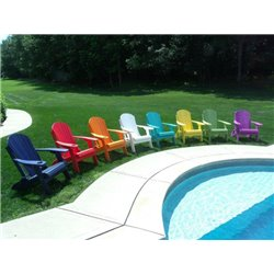 Poly Lumber Folding Adirondack Chair in Poly Lumber with Cupholder