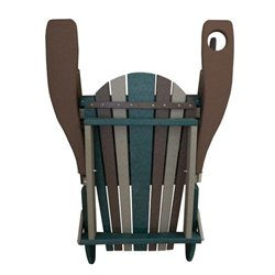 Folding Adirondack Chair in Poly Lumber with Cupholder