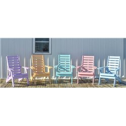 Plantation Ladderback Folding Adirondack Chair in Poy Lumber Recycled Plastic
