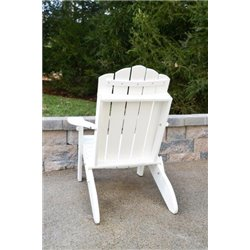 Country Classic Folding Adirondack Chair in Poy Lumber Recycled Plastic