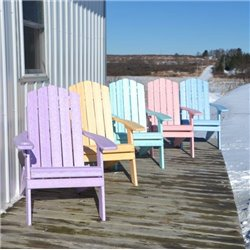 Country Classic Folding Adirondack Chair in Poy Lumber Recycled Plastic - Daydream Colors