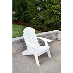 Seaside Folding Adirondack Chair in Poy Lumber Recycled Plastic