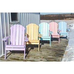 Seaside Folding Adirondack Chair in Poy Lumber Recycled Plastic - Daydream Colors