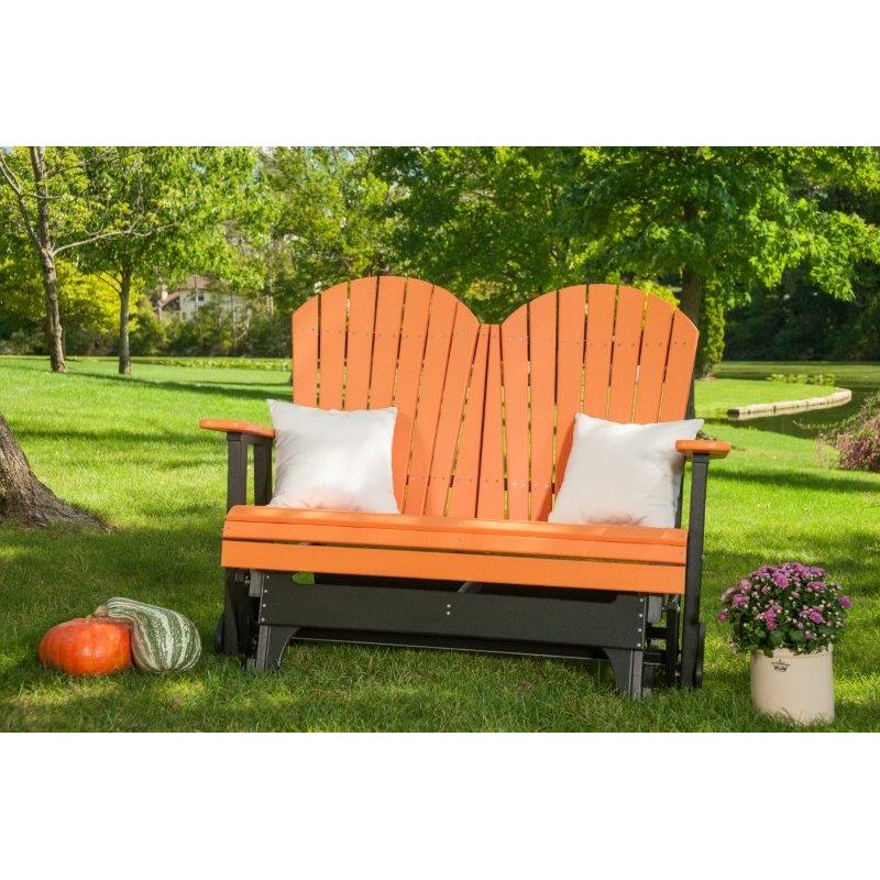 4 Foot Adirondack Porch Glider Bench in Poly Lumber