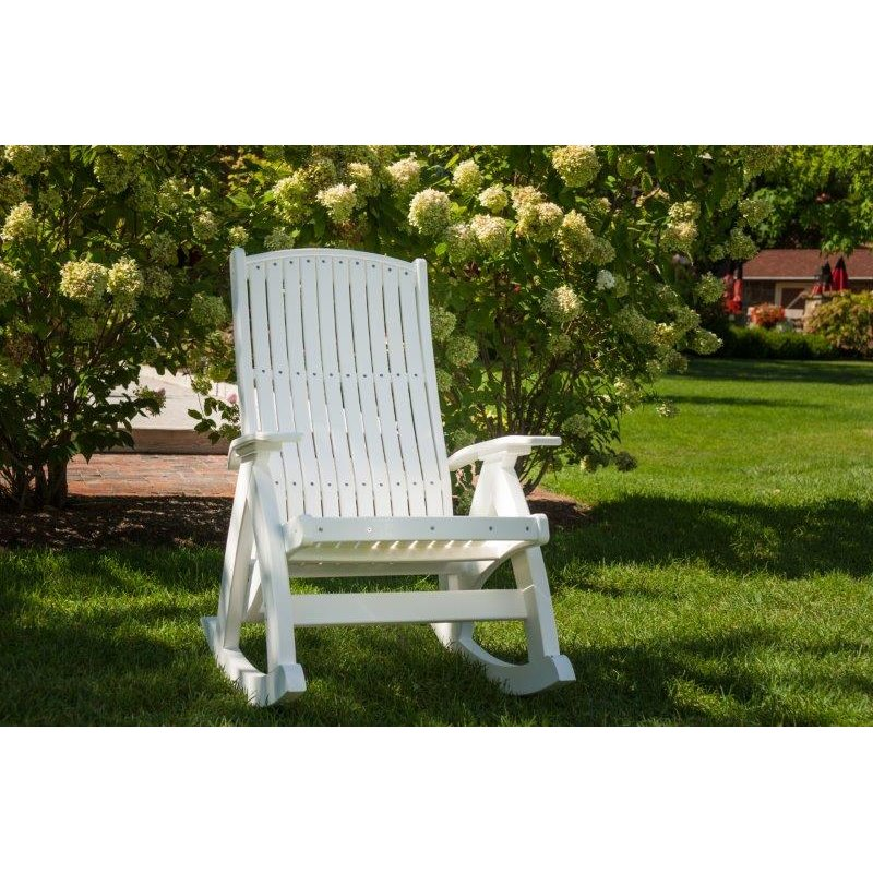 Poly Outdoor Comfort Porch Rocker Luxcraft Poly Colors White Luxcraft Rocker Cushion No Thanks