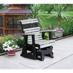 Poly Outdoor 2 Foot Rollback Glider Chair