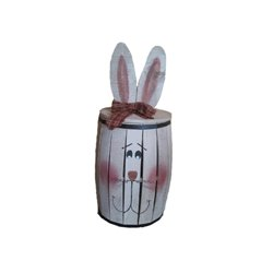 Bunny Shaped Indoor/Outdoor Barrel with Removable Top