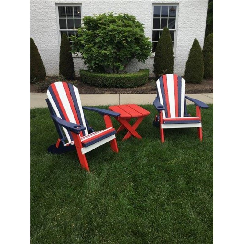 Miraculous Usa Folding Adirondack Chair In Poly Lumber Red White Blue Set Squirreltailoven Fun Painted Chair Ideas Images Squirreltailovenorg