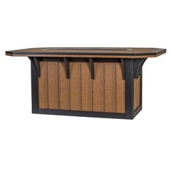 Shown in Dining Height Antique Mahogany & Black