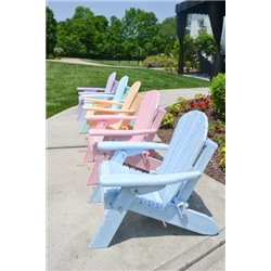 Toddler Size Folding Adirondack Chair in Poly Lumber