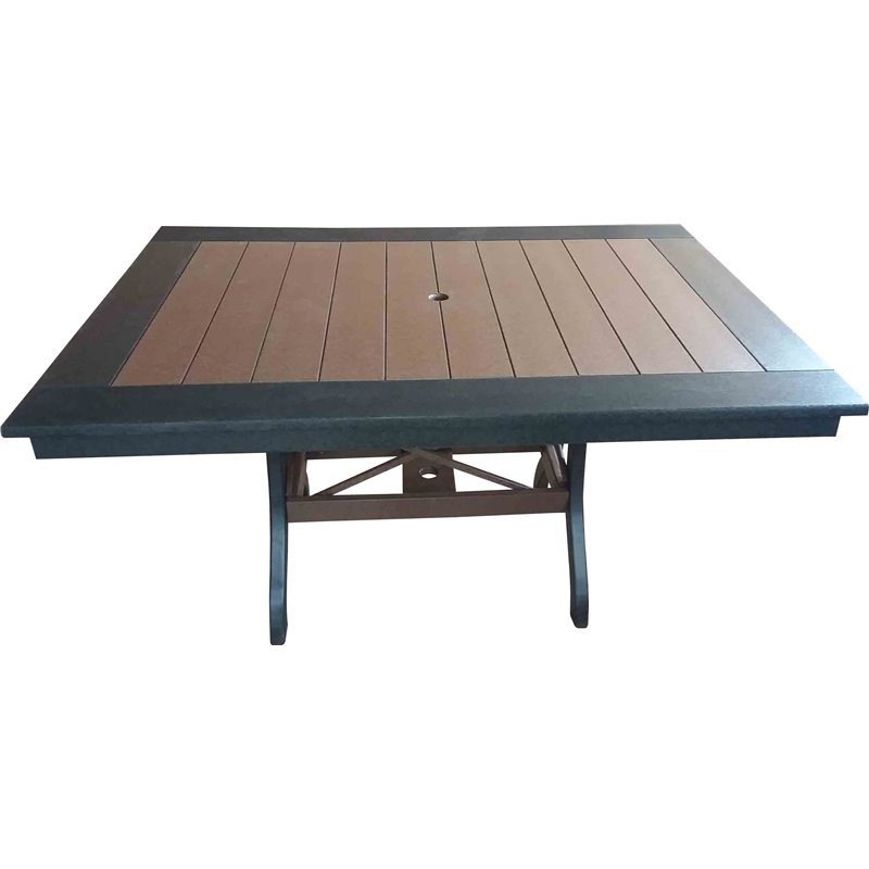 "Poly Lumber Rectangle Table 30"" Tall - 3 Sizes - 18 Standard Colors"