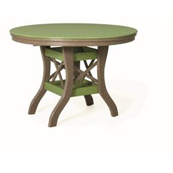 """Poly Lumber Patio Set with 48"""" Oval Table & 4 Side Chairs - 18 Standard Colors"""