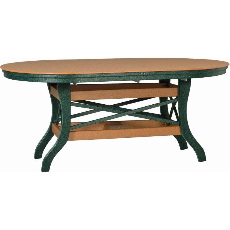 """Poly Lumber Patio Set with 60"""" Oval Table & 4 Arm Chairs - 7 Premium Colors"""