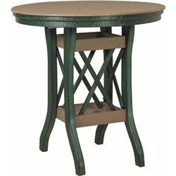 "Poly Lumber Patio Set with 36"" Round Balcony Table & 4 Barstools - 7 Premium Colors"