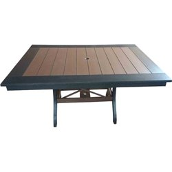 "Poly Lumber Patio Set with 60"" Rectangle Table & 4 Chairs - 18 Standard Colors"