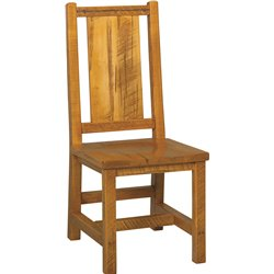 Western Twist Set of 2 Dining Side Chairs in Wormy Maple