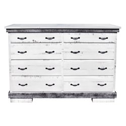 Flint Ridge Mule Two-Toned 8 Drawer Dresser in Rough Sawn Maple