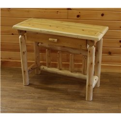 White Cedar Log Student Desk