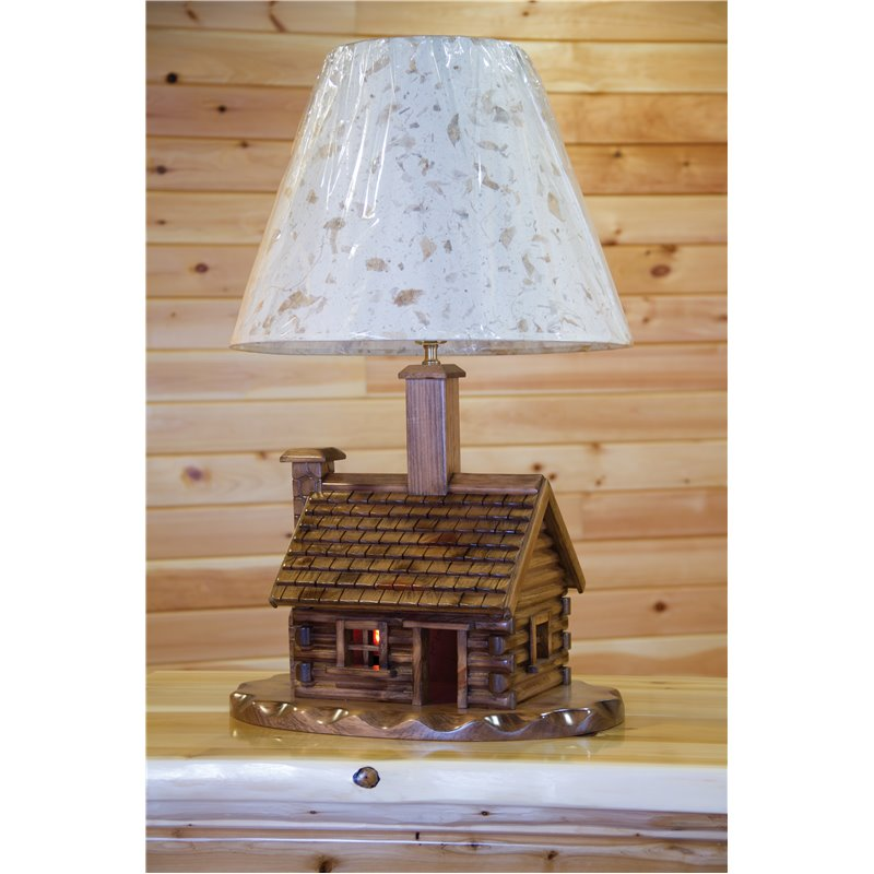 Pine Log - Log Cabin Lamp