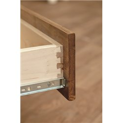 Classic White Cedar Log 3 Drawer Nightstand