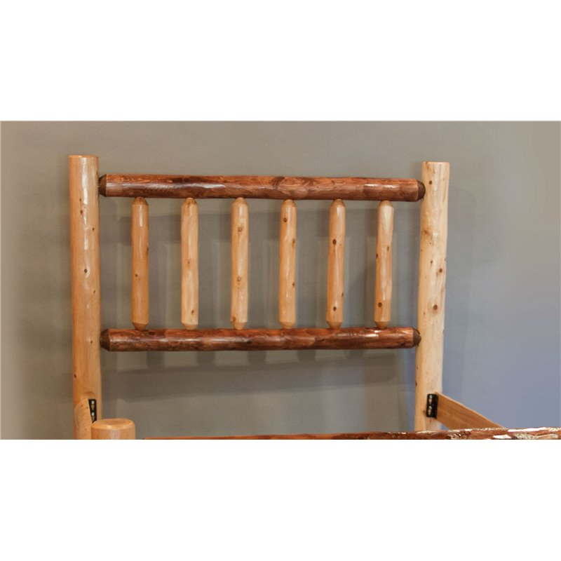Rustic Mission Style Two-Tone Headboard Only