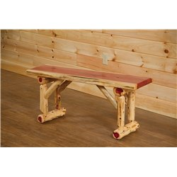 Rustic Red Cedar Log Dining/Hall Bench