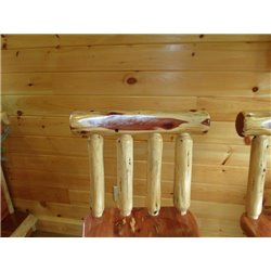 "Rustic Red Cedar Log 24"" or 30"" Bar Stool with Back"