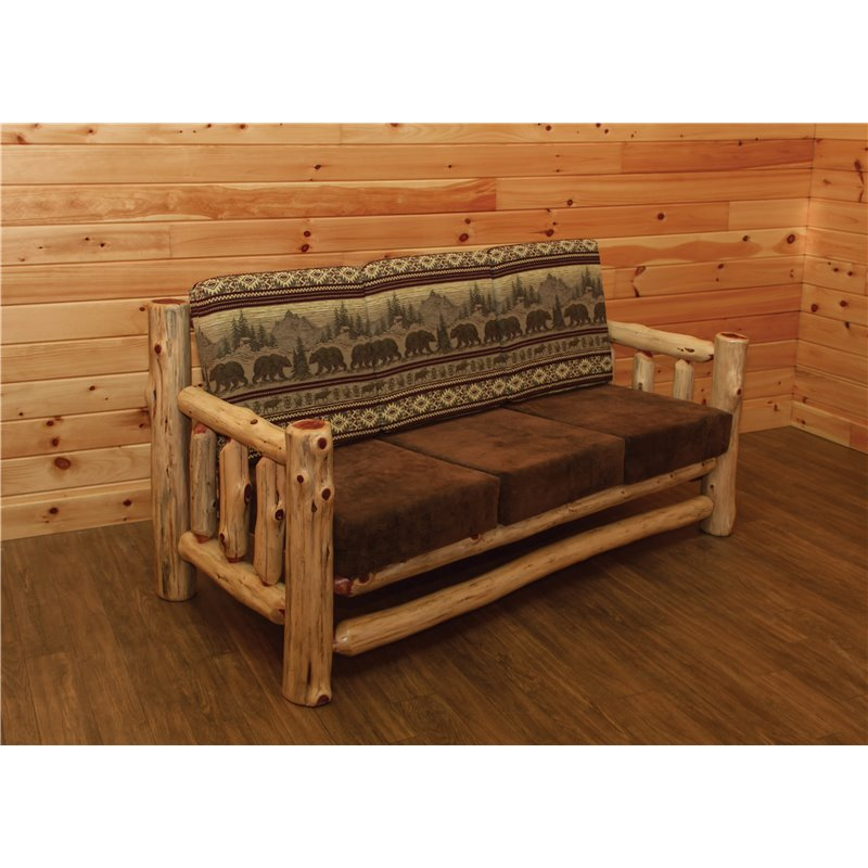 Rustic Red Cedar Log Santa Fe Couch