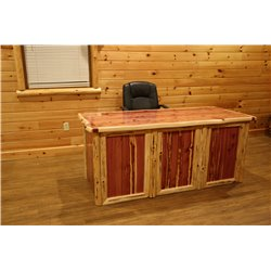 Rustic Red Cedar Log Executive Desk
