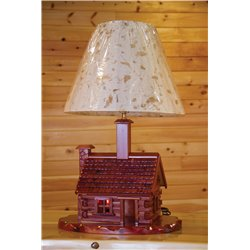 Rustic Red Cedar Log Cabin Lamp
