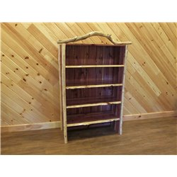 Rustic Red Cedar Log Bookcase