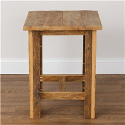 Rustic Reclaimed Oak End Table