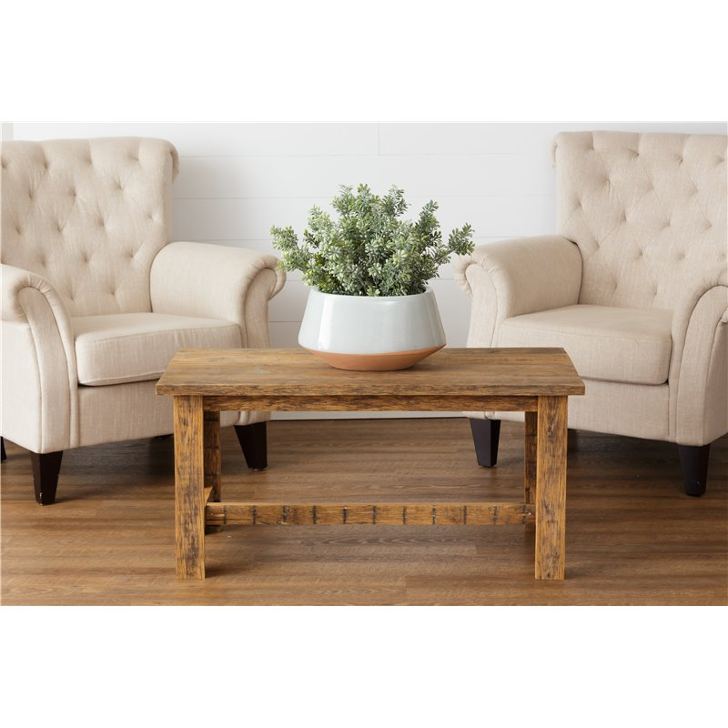 Rustic Reclaimed Oak Coffee Table