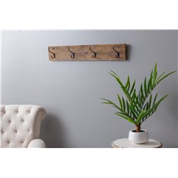 Rustic Reclaimed Oak Wall Coat Rack