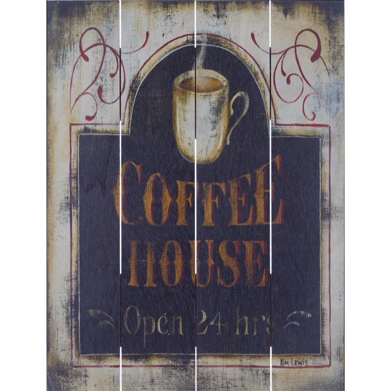 Wood Pallet Art - Coffee House