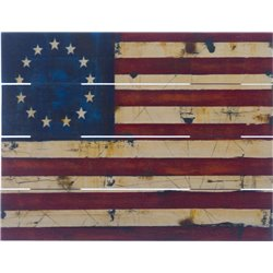 Wood Pallet Art - Antique Flag