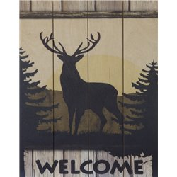 Wood Pallet Art - Deer Welcome