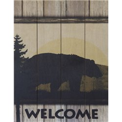 Wood Pallet Art - Bear Welcome