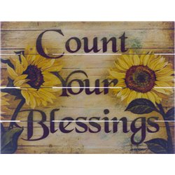 Wood Pallet Art - Count Your Blessings