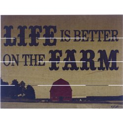 Wood Pallet Art - Life is Better on the Farm